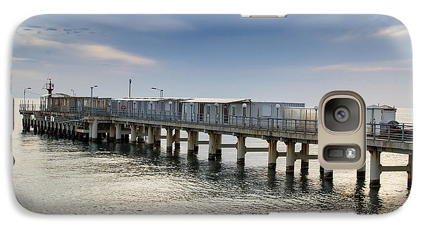 Galaxy Case featuring the photograph Pier At Sunset by John Williams