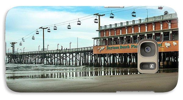 Galaxy Case featuring the photograph Pier Daytona Beach by Carolyn Marshall
