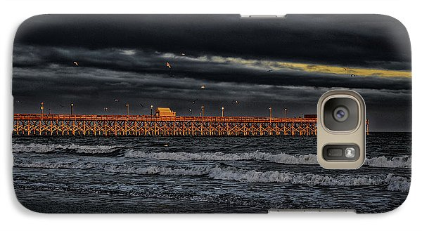 Galaxy Case featuring the photograph Pier Into Darkness by Kelly Reber