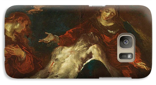 Galaxy Case featuring the painting Pieta With Mary Magdalene by Giuseppe Bazzani