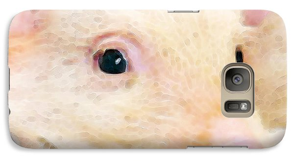 Pig Art - Pretty In Pink Galaxy S7 Case by Sharon Cummings