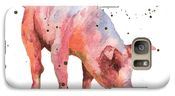 Pig Painting Galaxy S7 Case by Alison Fennell
