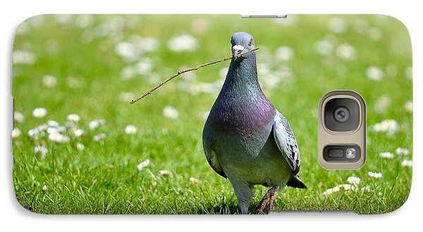 Galaxy Case featuring the photograph Pigeon In Spring by Kathy King