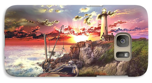Pigeon Galaxy S7 Case - Pigeon Point Lighthouse by Bekim Art