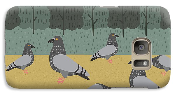 Pigeon Galaxy S7 Case - Pigeons Day Out by Nicole Wilson