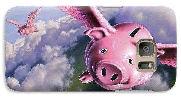 Pig Galaxy S7 Case - Pigs Away by Jerry LoFaro