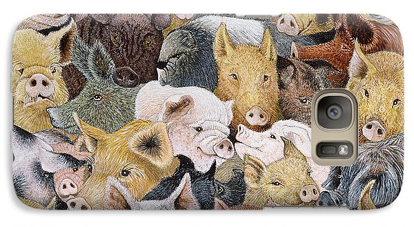 Pigs Galore Galaxy S7 Case by Pat Scott