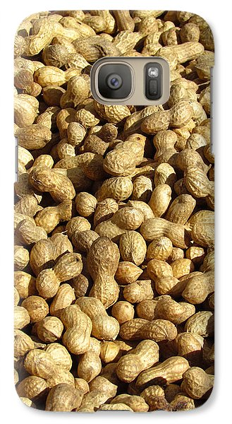 Galaxy Case featuring the photograph Pile Of Peanuts by Bonnie Muir