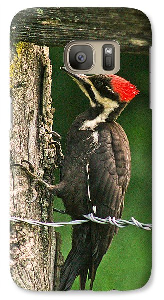 Galaxy Case featuring the photograph Pileated Woodpecker by Jessica Brawley