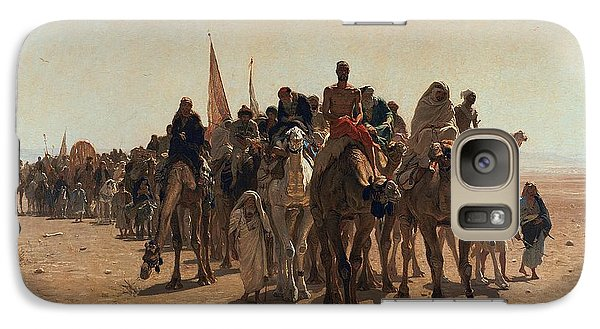 Pilgrims Going To Mecca Galaxy S7 Case by Leon Auguste Adolphe Belly