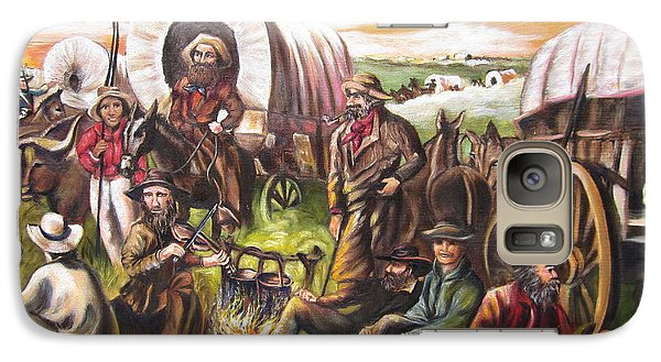 Galaxy Case featuring the painting Pilgrims On The Plain by Sigrid Tune
