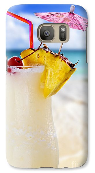 Pina Colada Cocktail On The Beach Galaxy S7 Case