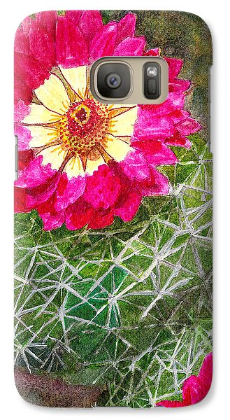 Galaxy Case featuring the painting Pincushion Cactus by Eric Samuelson