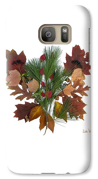 Galaxy Case featuring the digital art Pine And Leaf Bouquet by Lise Winne