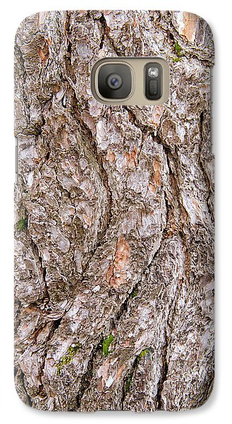 Pine Bark Abstract Galaxy S7 Case by Christina Rollo