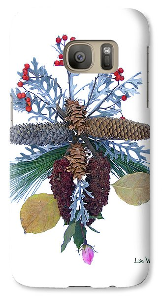 Galaxy Case featuring the digital art Pine Cone Bouquet by Lise Winne