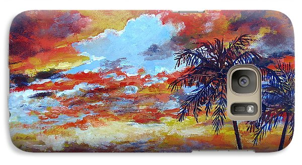 Galaxy Case featuring the painting Pine Island Sunset by Lou Ann Bagnall