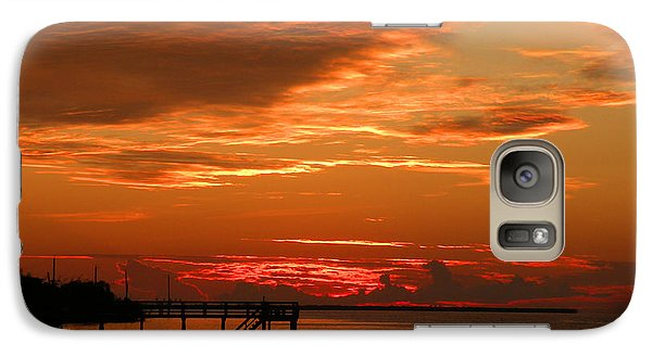 Galaxy Case featuring the photograph Pine Island Sunset by Rosalie Scanlon