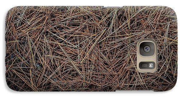 Galaxy Case featuring the photograph Pine Needles On Forest Floor by Elena Elisseeva