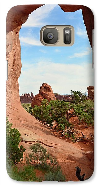 Galaxy Case featuring the photograph Pine Tree Arch In Utah 02 by Bruce Gourley