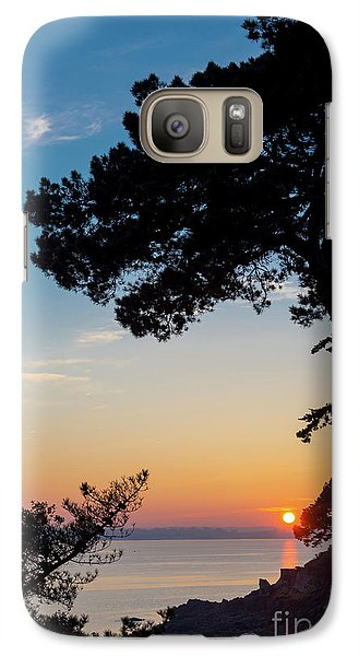 Galaxy Case featuring the photograph Pine Tree by Delphimages Photo Creations
