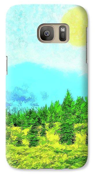 Pine Tree Mountain Blue - Shasta California Galaxy S7 Case