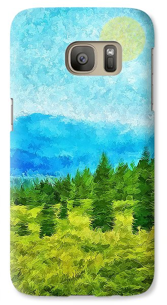 Pine Tree Mountain Blue - Shasta California Galaxy S7 Case by Joel Bruce Wallach