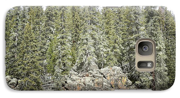 Galaxy Case featuring the photograph Pine Trees Rustic Mountain by Andrea Hazel Ihlefeld