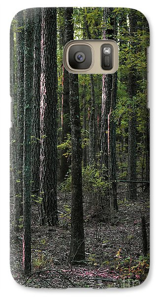 Galaxy Case featuring the photograph Pine Wood Sunrise by Skip Willits