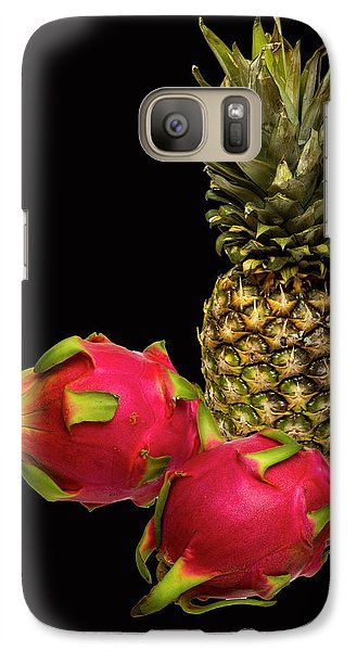 Galaxy Case featuring the photograph Pineapple And Dragon Fruit by David French
