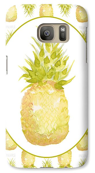 Galaxy Case featuring the painting Pineapple Cameo by Cindy Garber Iverson