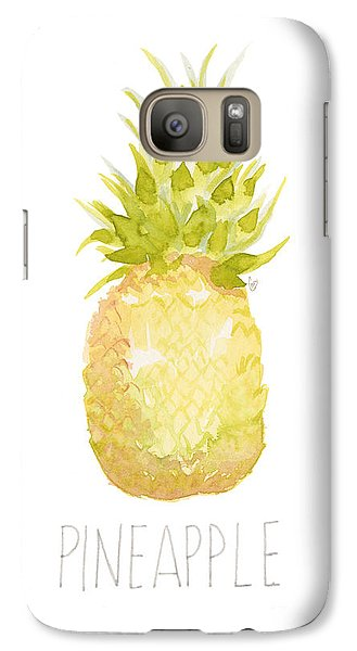 Galaxy Case featuring the painting Pineapple by Cindy Garber Iverson