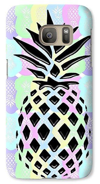 Pineapple Collage Galaxy Case by Liesl Marelli