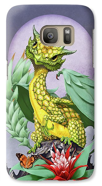 Galaxy Case featuring the digital art Pineapple Dragon by Stanley Morrison