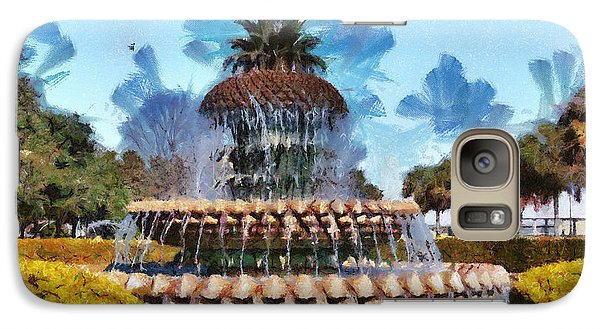 Galaxy Case featuring the painting Pineapple Fountain by Lynne Jenkins