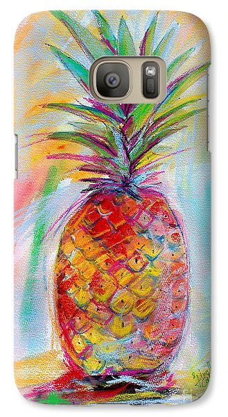 Galaxy Case featuring the painting Pineapple Mixed Media Painting by Ginette Callaway