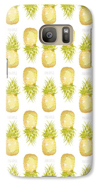 Galaxy Case featuring the painting Pineapple Print by Cindy Garber Iverson