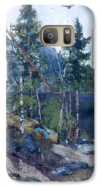 Galaxy Case featuring the painting Pinelake  by Helen Harris