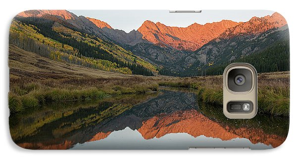 Galaxy Case featuring the photograph Piney River Autumn Sunrise by Aaron Spong