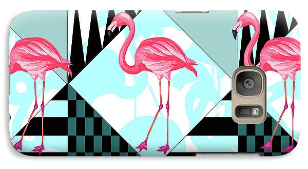 Ping Flamingo Galaxy Case by Mark Ashkenazi