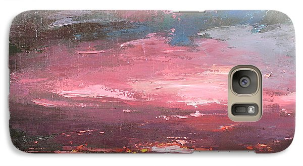 Galaxy Case featuring the painting Pink by Anastasija Kraineva