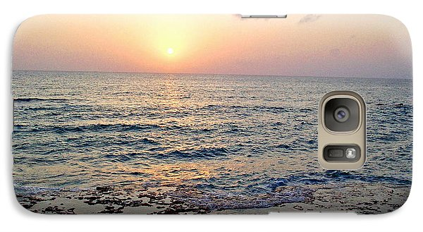 Galaxy Case featuring the photograph Pink And Purple Sunset Over Grand Cayman by Amy McDaniel