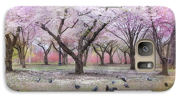 Galaxy Case featuring the photograph Pink And White Spring Blossoms - Boston Common by Joann Vitali