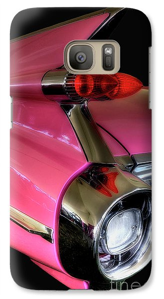 Galaxy Case featuring the photograph Pink Cadillac Blackout by Trey Foerster