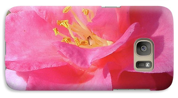 Galaxy Case featuring the photograph Pink Camelia by Diane Ferguson