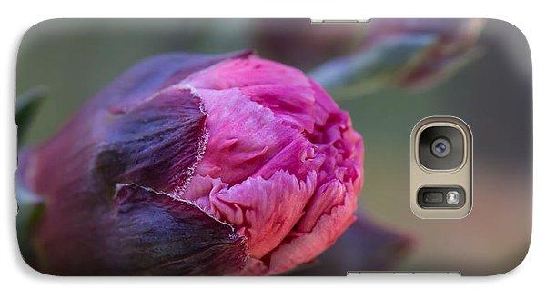 Pink Carnation Bud Close-up Galaxy S7 Case