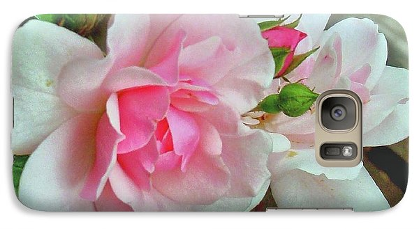 Galaxy Case featuring the photograph Pink Cluster Of Roses by Janette Boyd
