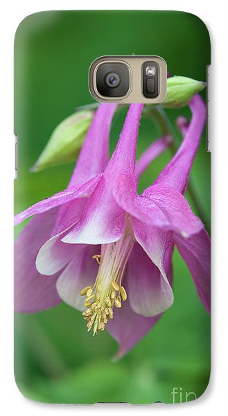 Galaxy Case featuring the photograph Pink Columbine - D010096 by Daniel Dempster