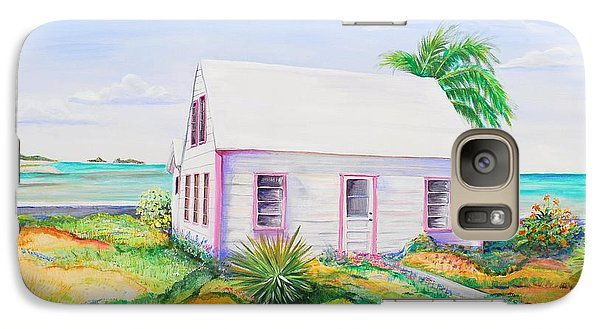 Galaxy Case featuring the painting Pink Cottage by Patricia Piffath