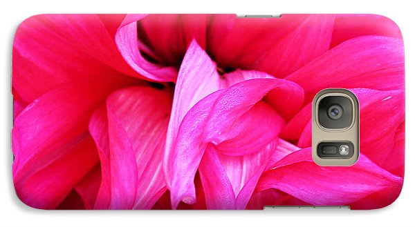Galaxy Case featuring the photograph Pink Dahlia by Kristin Elmquist